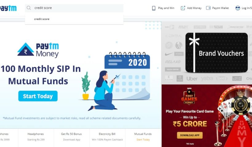 how-to-check-the-credit-cibil-score-in-paytm-app
